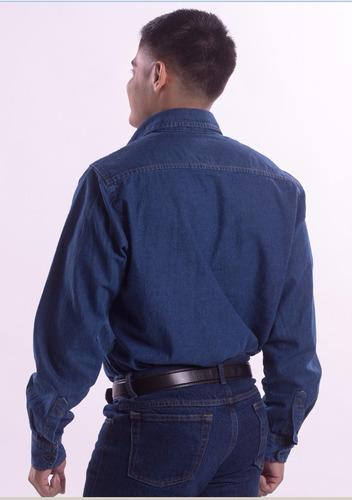 camisa de mezclilla industrial, para trabajo, uso rudo