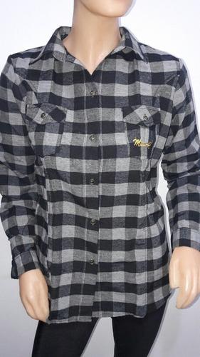 camisa de mujer escosesas de lanilla
