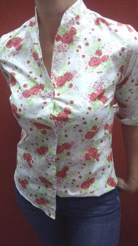 camisa de mujer mangas 3/4, entalladas, liquidación!!