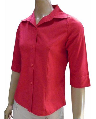 camisa de mujer  uniforme manga 3/4 envios a todo el pais