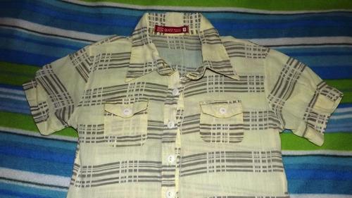 camisa de niña talla 7 tela fina suave