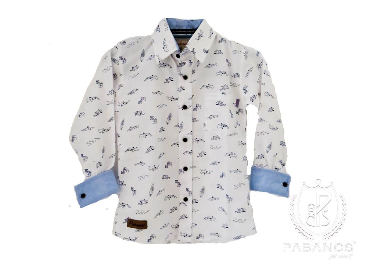 10d5f5736 Camisa De Niño Estampada Peces -   195.00 en Mercado Libre