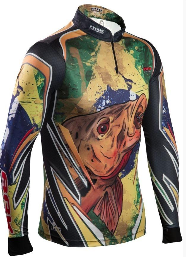 camisa de pesca brk brasil fishing fpu50+. Carregando zoom. e4b7c298a3179