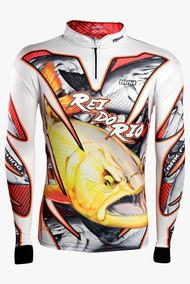 cf3d7fea3c918f Camisa De Pesca Brk Dourado Rei Do Rio 2.0 Com Fps 50 M