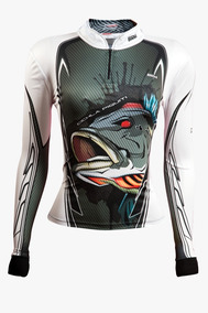 718f82bb409bac Camisa De Pesca Feminina Brk Cichla Branca Com Fps 50+
