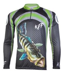 05d6002e356ff6 Camisa De Pesca King Brasil Proteção Uv 50 - Kff10 P M G Gg