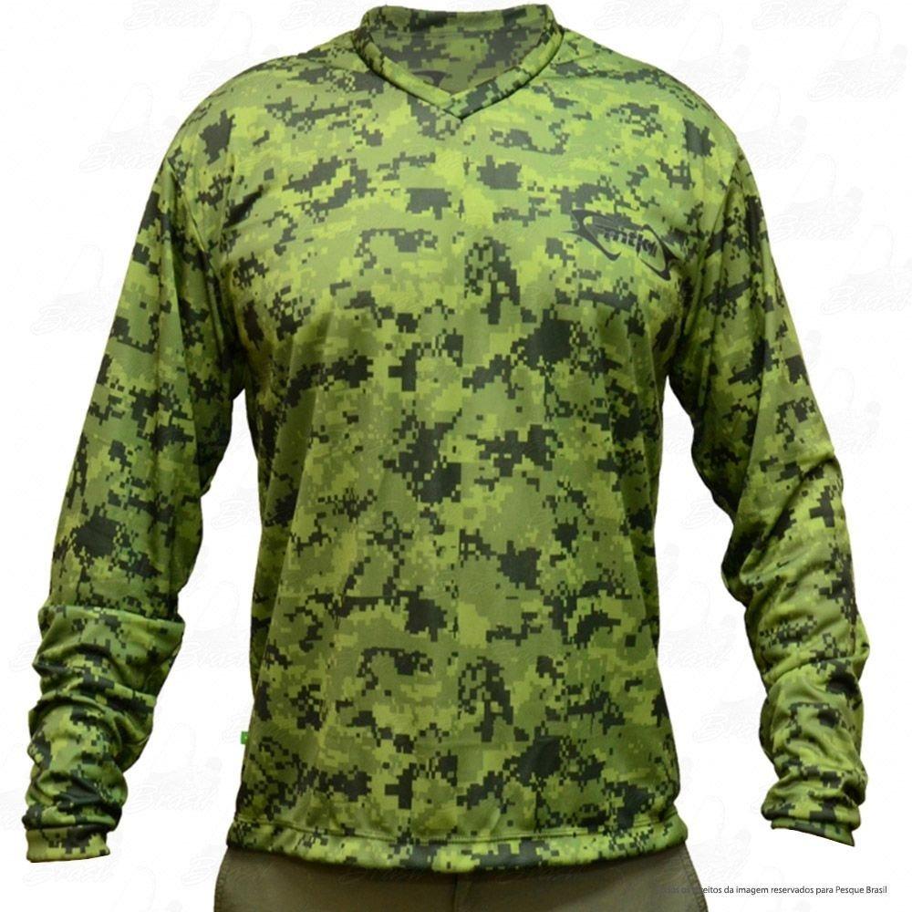 camisa de pesca mtk attack proteção solar uv camuflado. Carregando zoom. 77e676d34872f