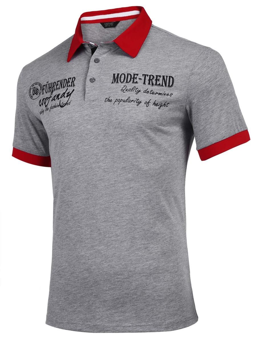 d174d32dba Camisa De Polo Casual Botón Camisetas Camisas Polos Hombres ...