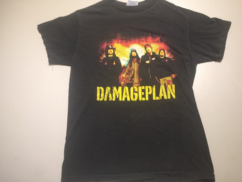 camisa de rock retro damageplan s 4