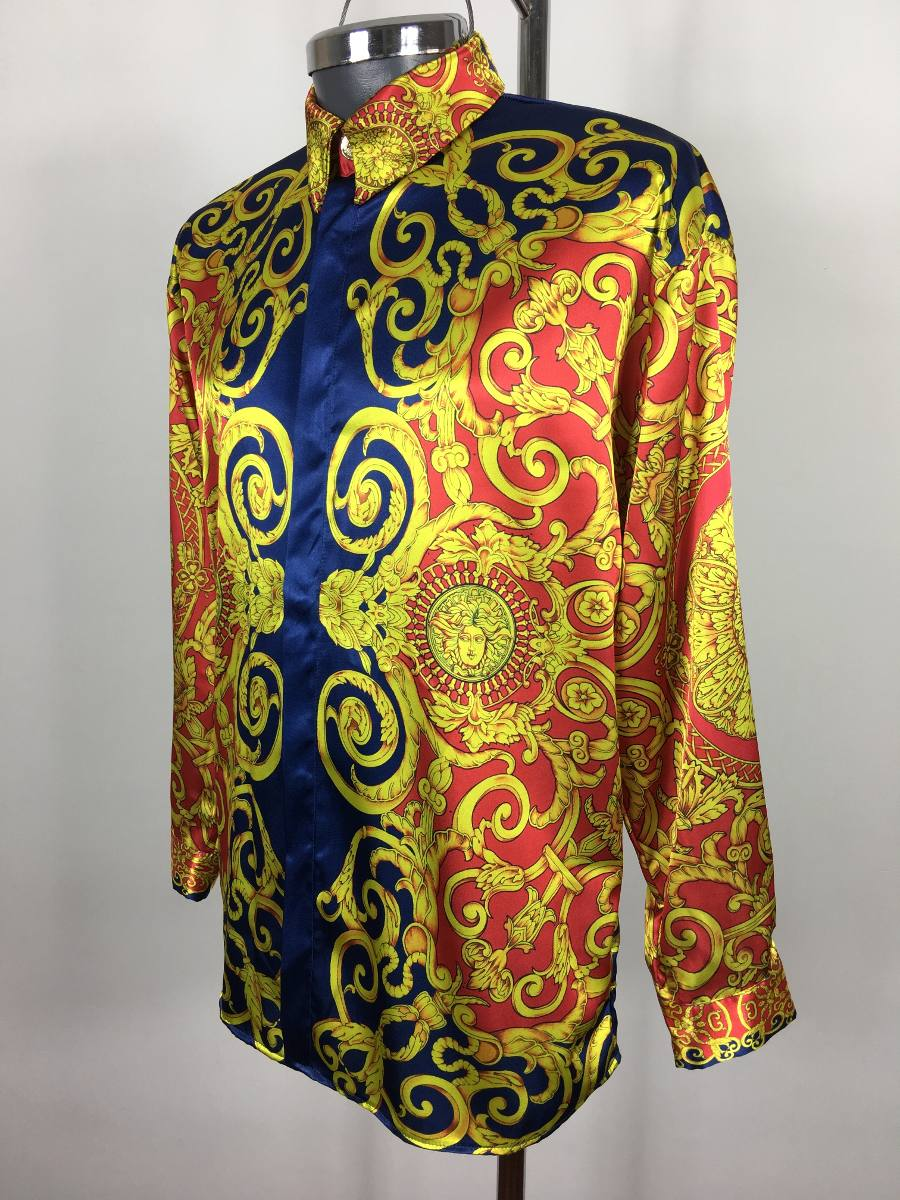 Camisa De Seda Gianni Versace 3fd59794ae1