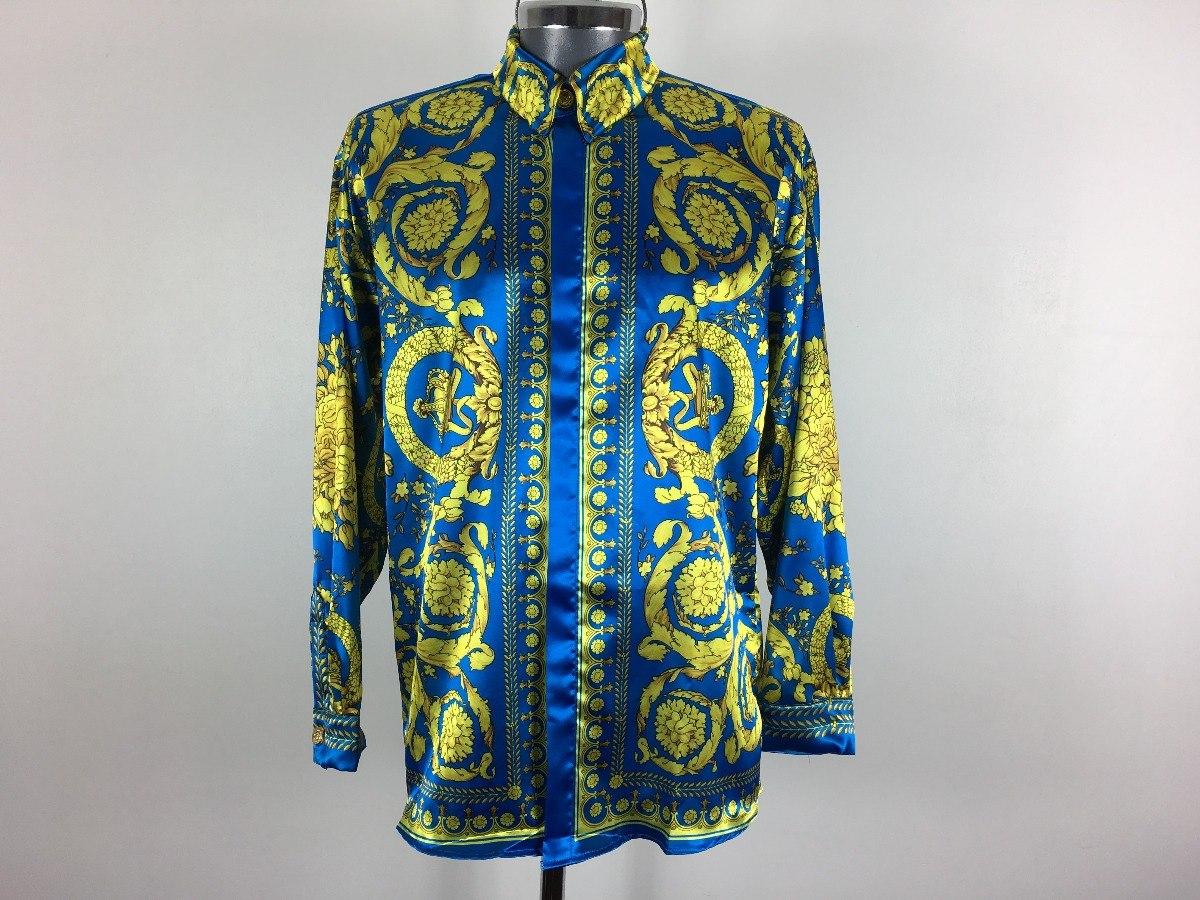 Camisa De Seda Gianni Versace Vintage De Hombre 69f7ab0a10f
