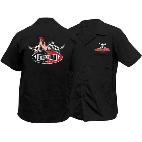 camisa de taller lethal threat lt fully equipped negro md