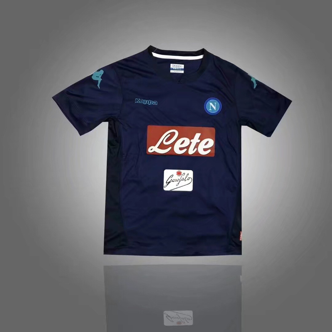 aff67e142afc4 camisa de time napoli azul escuro 2017. Carregando zoom.