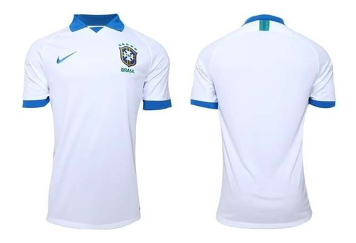 camisa de time seleção brasileira polo branca promoção