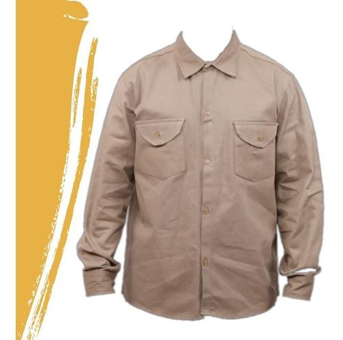 camisa de trabajo gabardina tipo grafa 6 oz.talle 36/48
