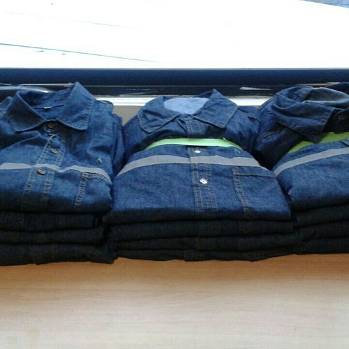 camisa de trabajo jeans prelavado de 7,5 oz