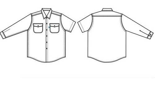 camisa de trabajo ombu 100% original distribuidor oficial