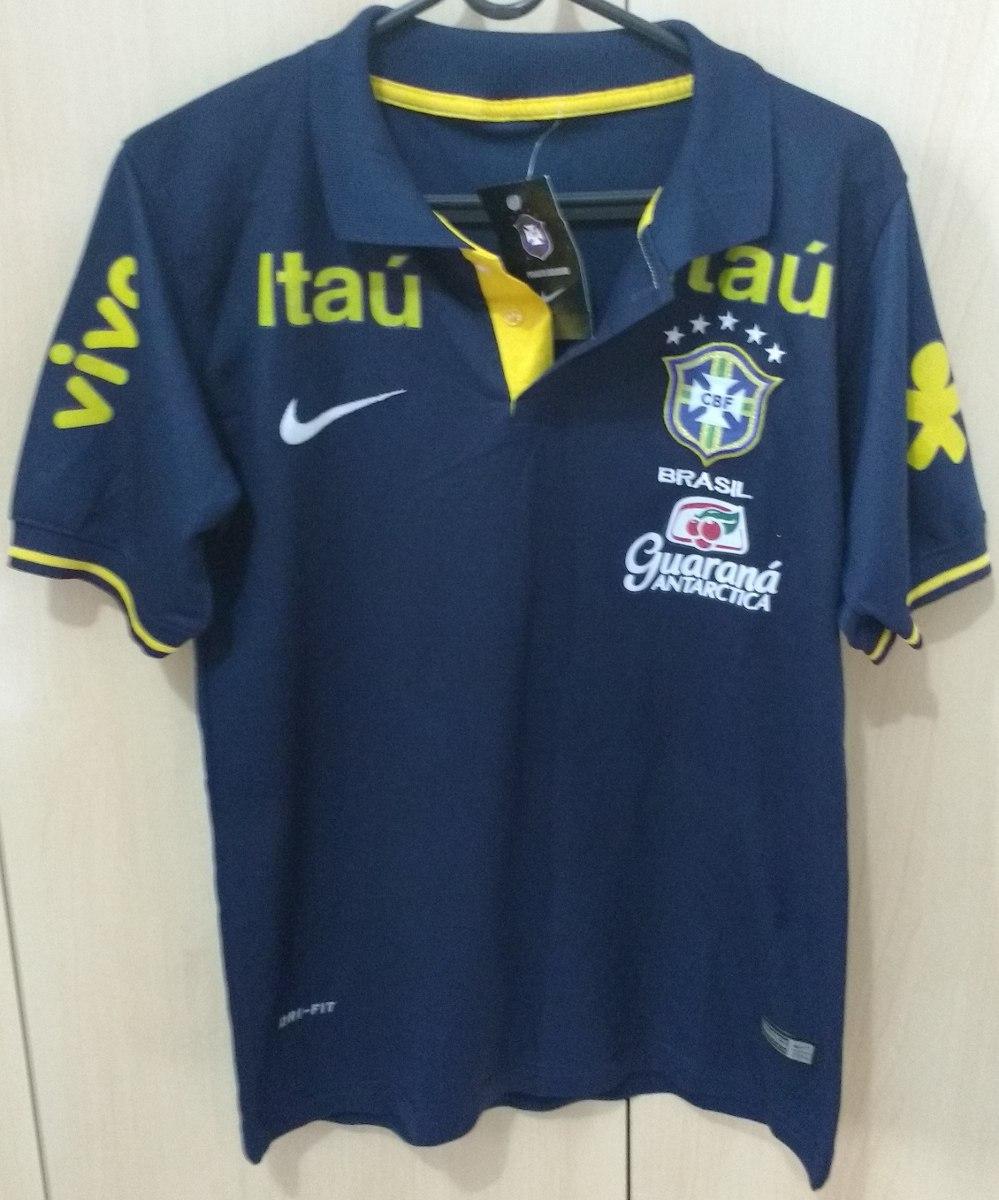 4fb373be7c camisa de treino seleção brasileira azul escuro. Carregando zoom.