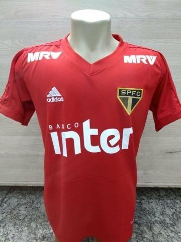 ca7e731ffe Camisa De Treino Vermelha adidas São Paulo Fc - Modelo 2018 - R$ 89 ...