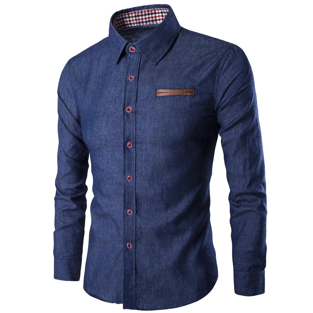 07b2375ca5266 camisa de vestir casual abotonada para hombre talla europea. Cargando zoom.