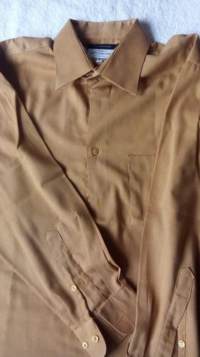 camisa de vestir color mostaza 15 1/2