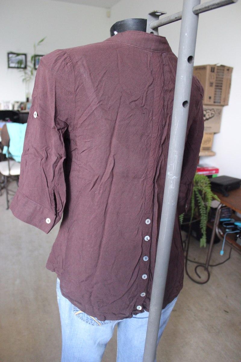 Camisa De Vestir Dama Marron Coctel Oficina - Bs. 7.000,00 en ...