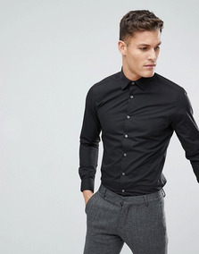 Camisa De Vestir Formal Negra Talla Xs French Connection