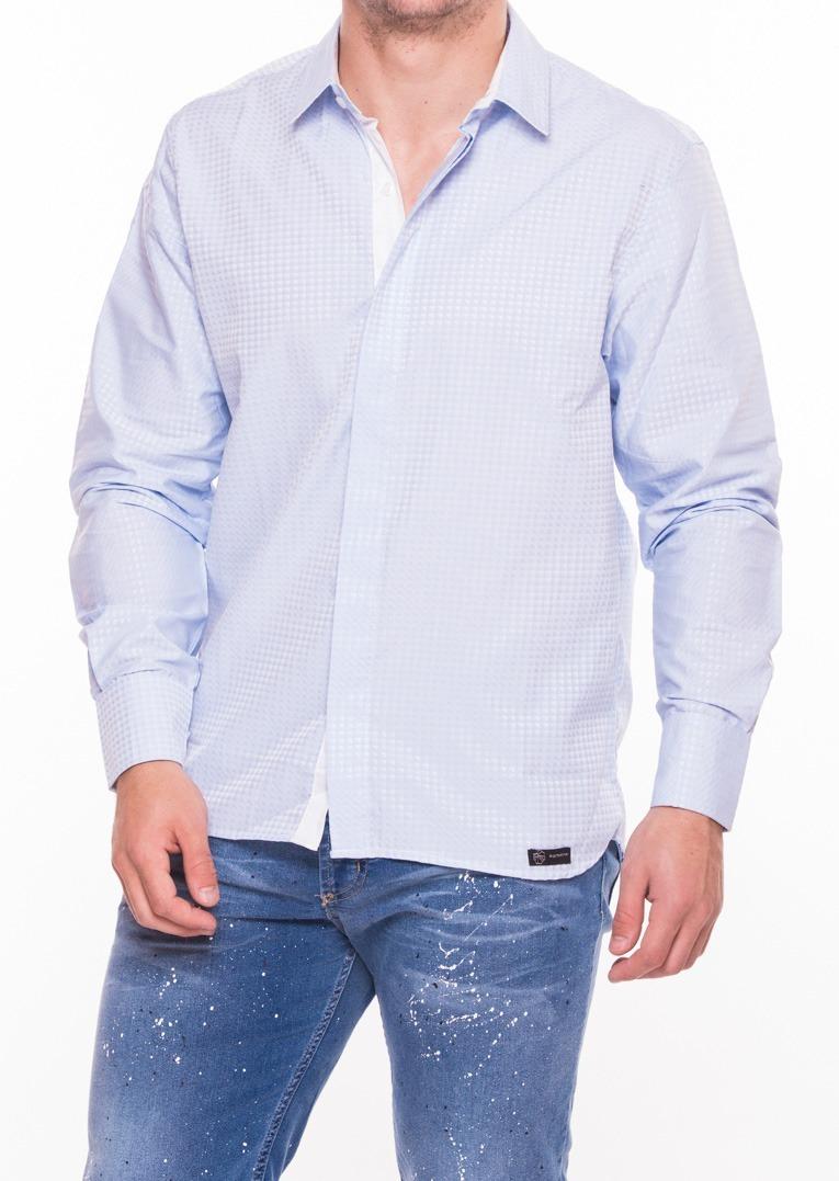 4905ead8cd675 hombre camisa vestir romana largas mangas en fantasia zoom de Cargando  vwYwOq1R