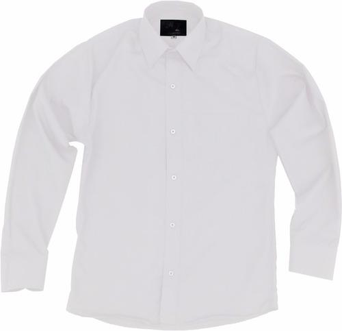 camisa de vestir para adulto blanca 34 a 42