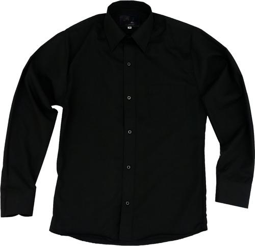 camisa de vestir para adulto negra 34, 36, 38, 40 y 42