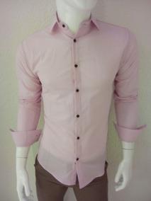 Camisa De Vestir O Casual Para Caballero En Color Rosa Claro
