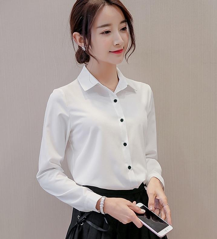 Camisa De Vestir Para Dama Mujer Botones Chic