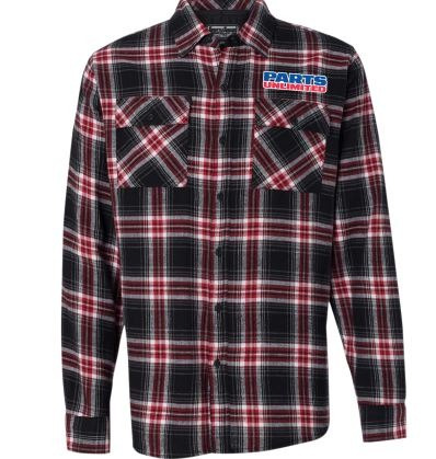 camisa d/franela throttle threads parts unli hombre rojo 3xl