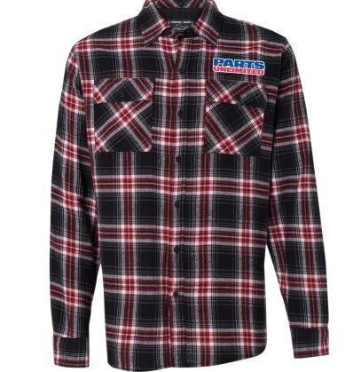 camisa d/franela throttle threads parts unli hombre rojo 3xl
