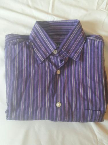 camisa dioro hombre manga larga talla ch/36