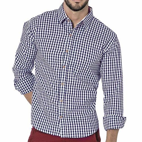 camisa  dmi  puntos color  azul caballero oi