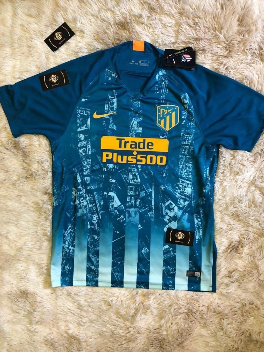 Camisa Do Atlético De Madrid 3° Uniforme Em Promoção - R  119 4a154ec053597