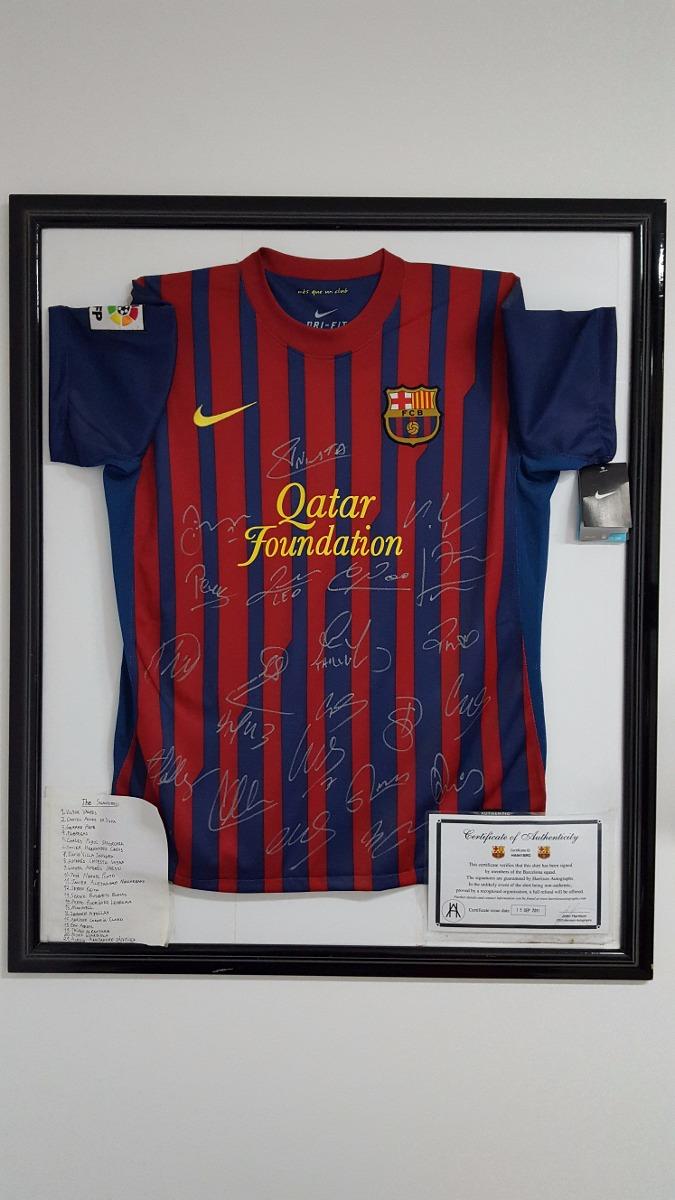 Camisa Do Barcelona 2011 Quadro + Autografos + Certificado ! - R ... 56eb01288ea3e