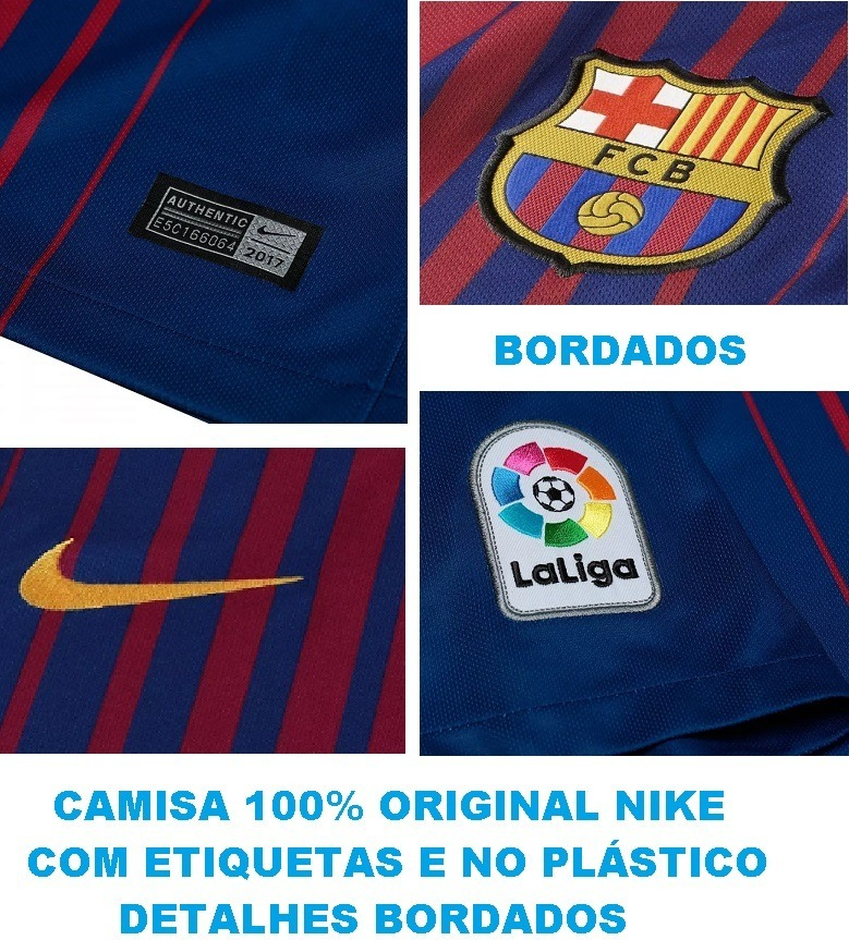 camisa do barcelona 2017   2018 original 100% nike - 88. Carregando zoom. 326f229dfee