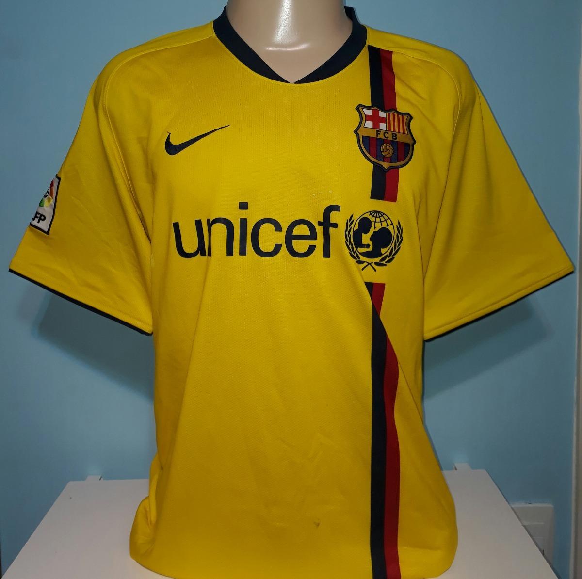 Camisa Do Barcelona Amarela 2008 Orig Nike Ótimo Estado - 18 - R ... 5977dc26583f2