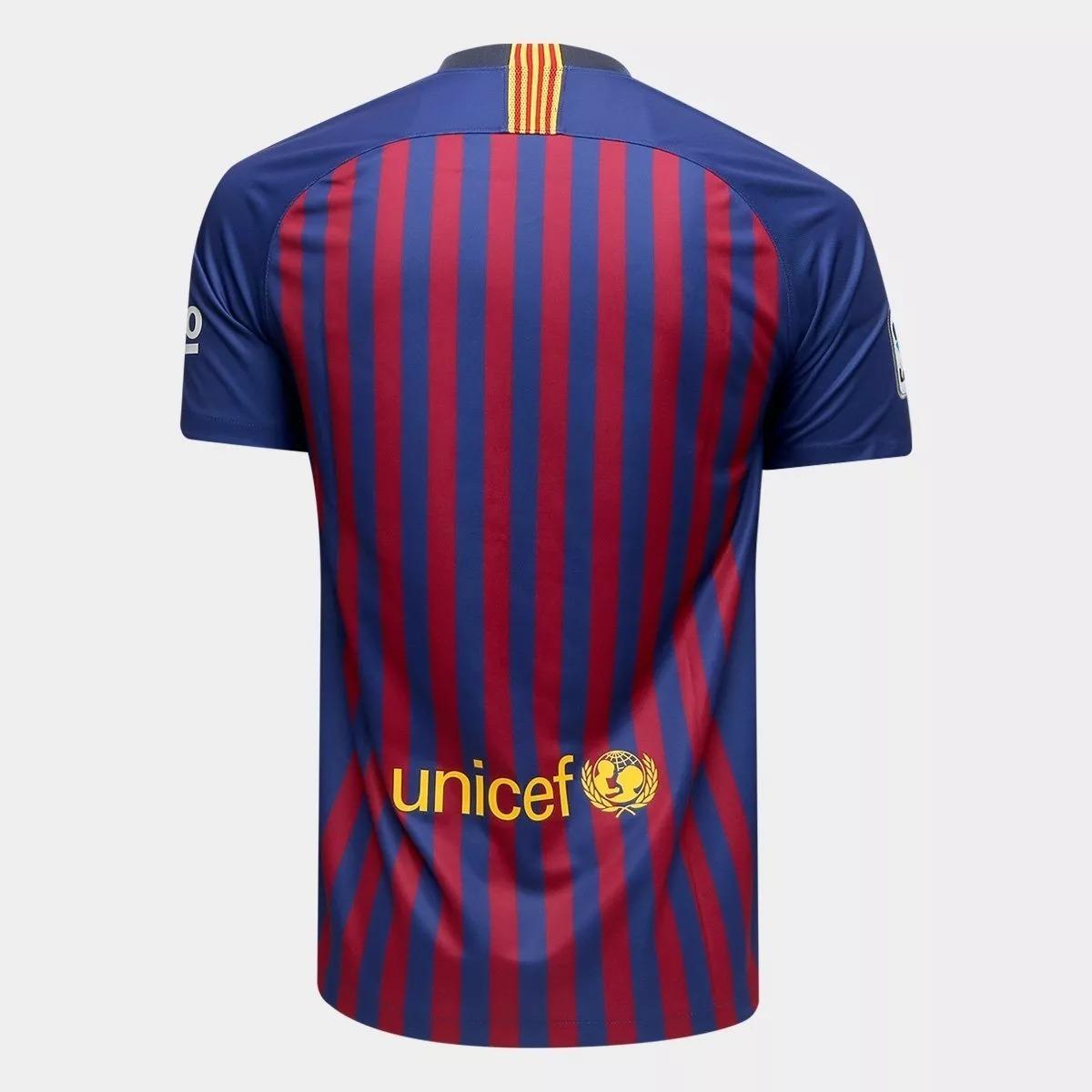 Camisa Do Barcelona Lançamento -s n2018 2019 - R  69 2a4bf0eac6393