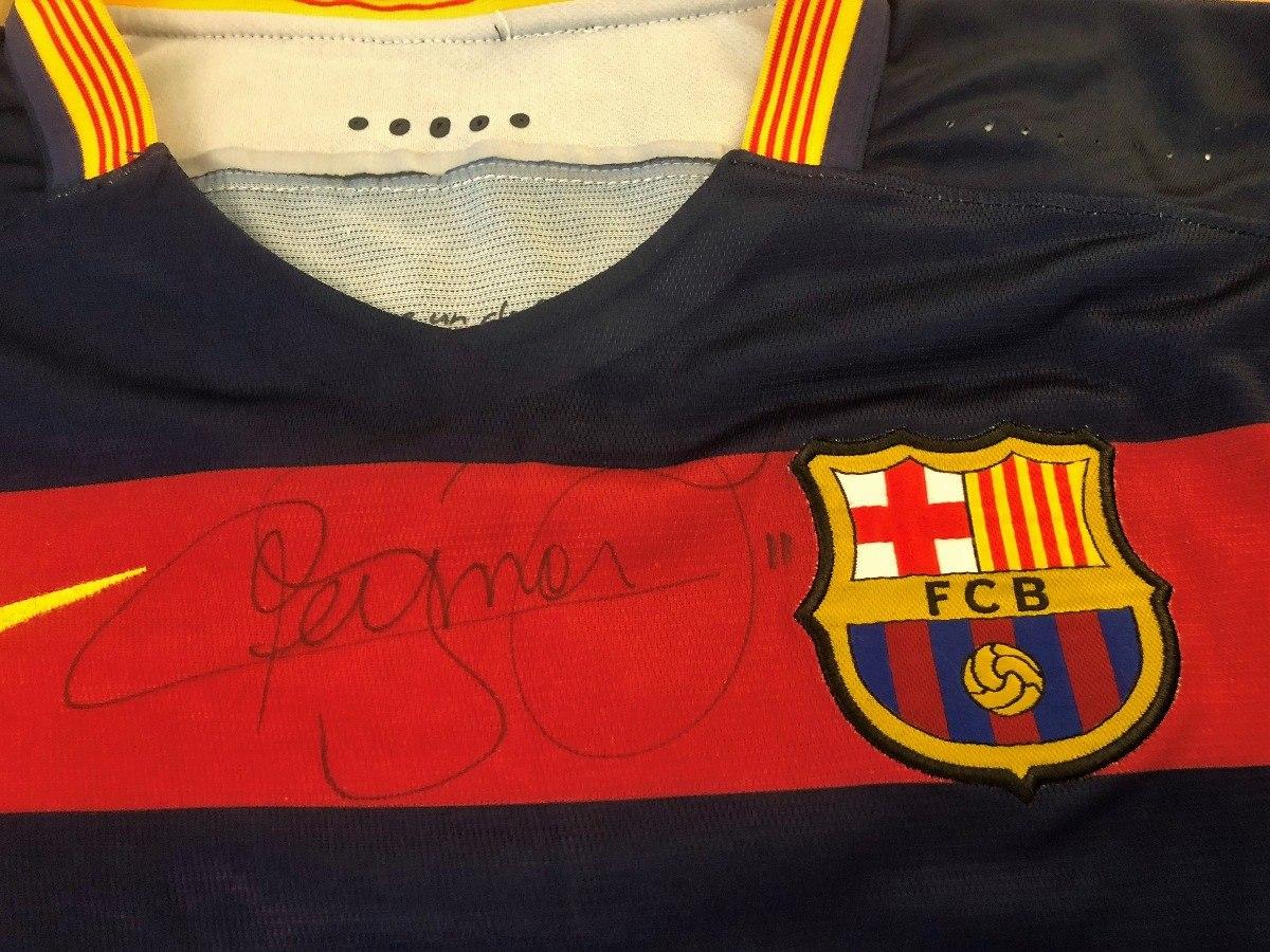 c1f0f01341bf3 camisa do barcelona neymar jr. de jogo autografada. Carregando zoom.