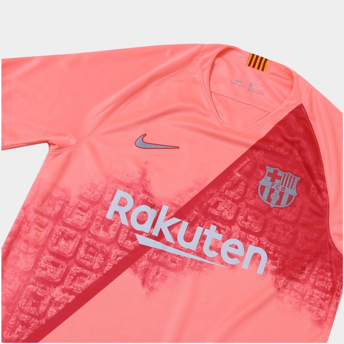 e40f659c5524c Camisa Do Barcelona Rosa vermelha 18 19 - Frete Grátis - R  189