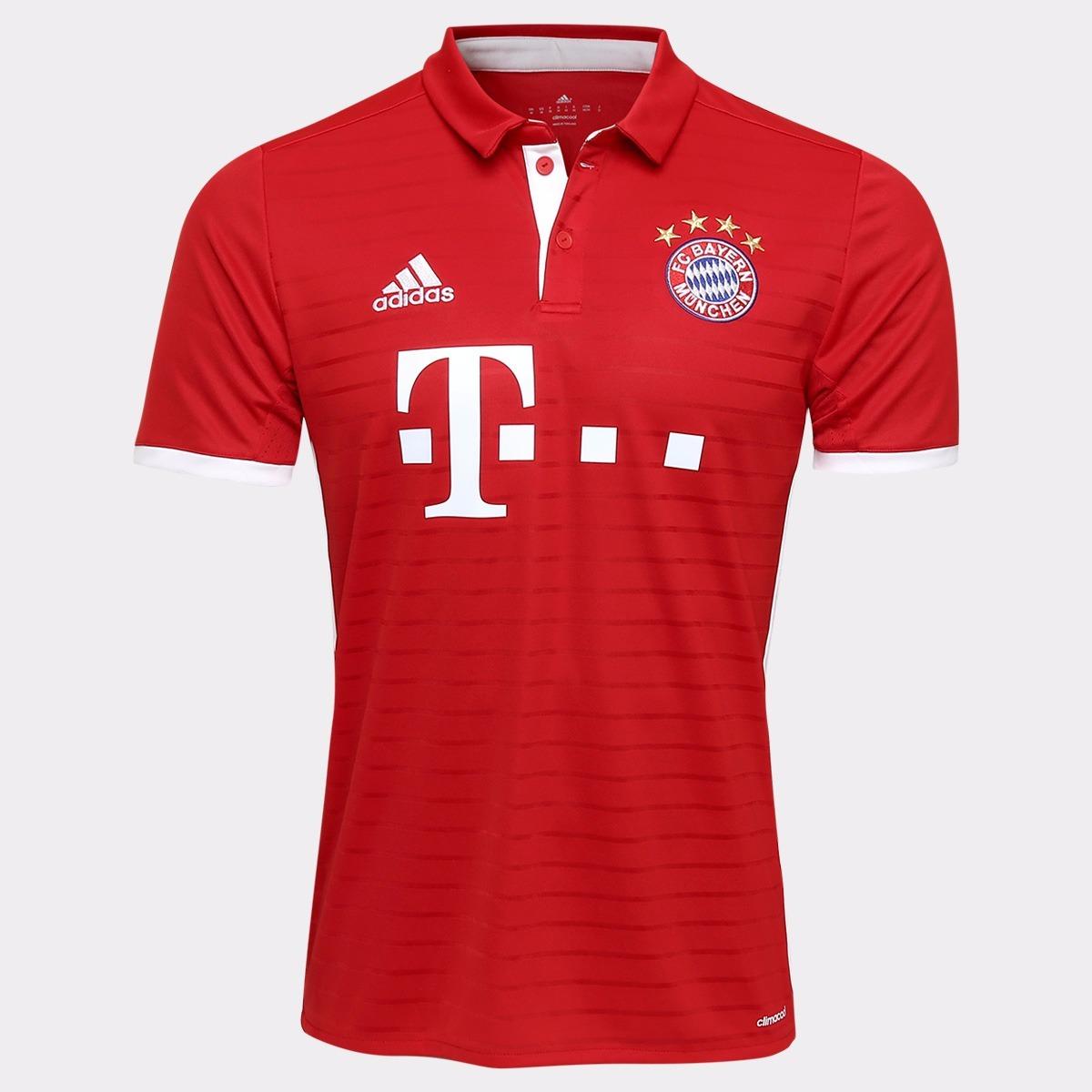 camisa do bayern de munique vermelha branca adidas jogador. Carregando zoom. eba53d3c5120e