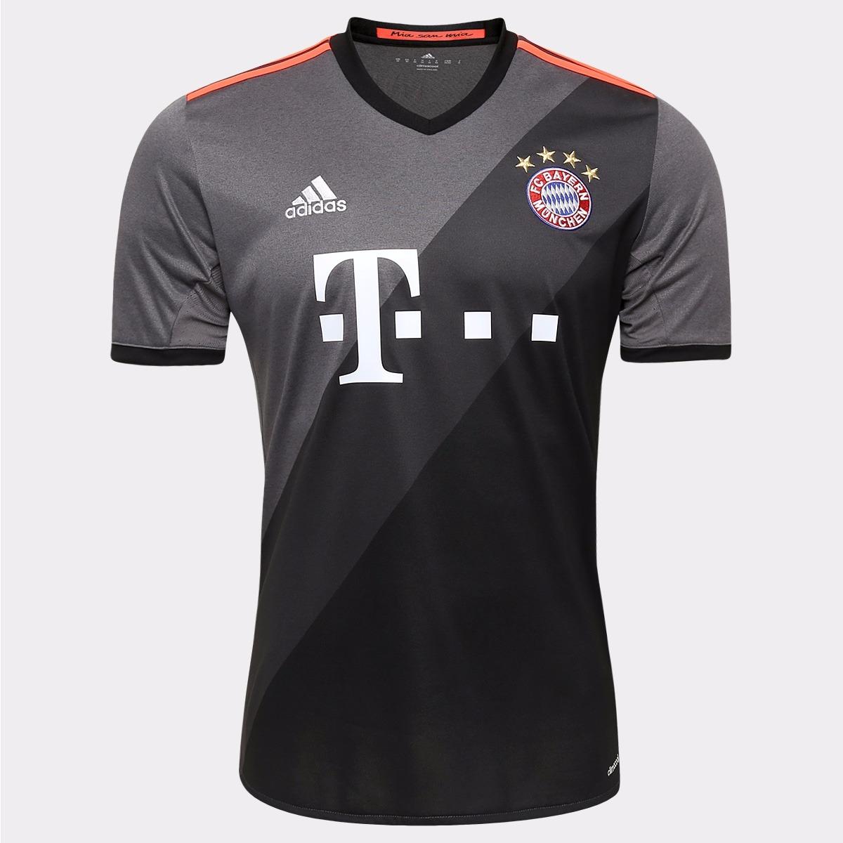 camisa do bayern de munique vermelha branca preta futebol. Carregando zoom. 9d10524b75b07
