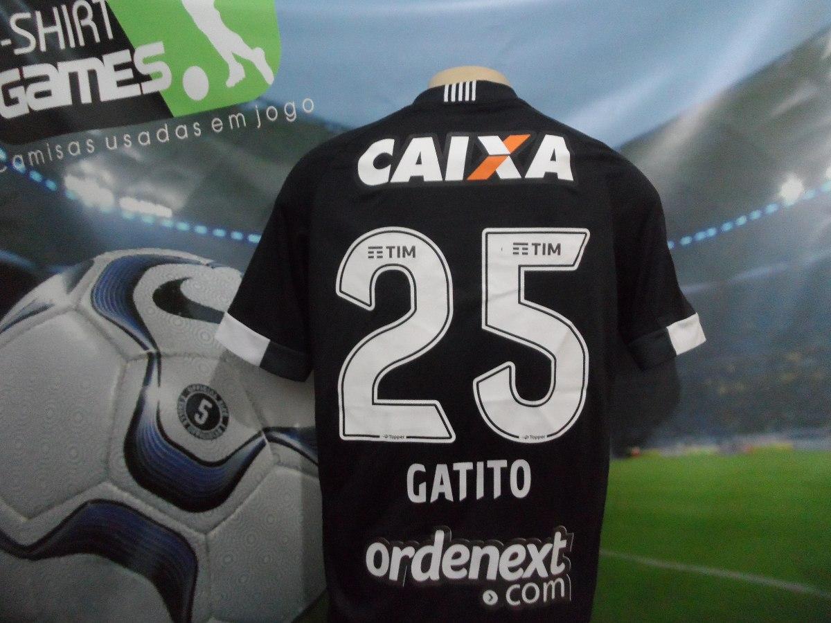 010a0bc4b7 Camisa Do Botafogo Gatito Da Libertadores 2017 (de Jogo). - R  450 ...
