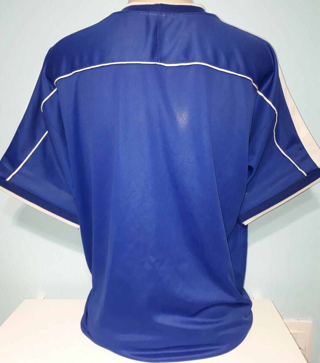 4ac581dd3a camisa do brasil azul 100% original nike copa 1998 - 36. Carregando zoom.