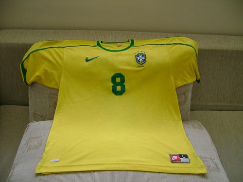 camisa do brasil copa 1998 dunga oficial nike