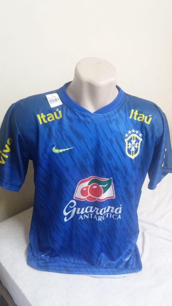 4ff84e99ea camisa do brasil de treino copa do mundo 2018 seleçao azul. Carregando zoom.