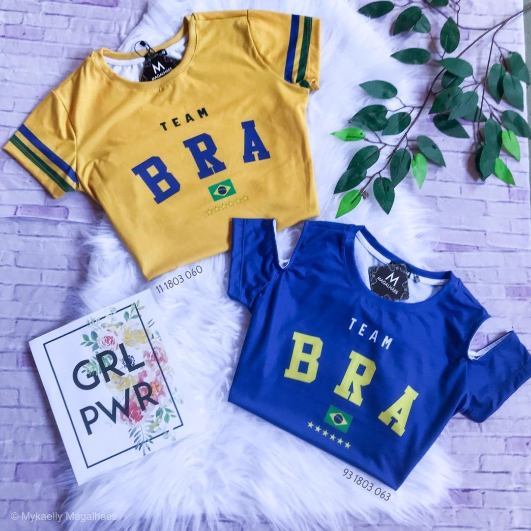 82e3167ad camisa do brasil feminina copa do mundo 2018. Carregando zoom.